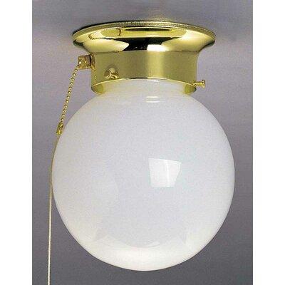 1-Light Ceiling Fixture Flush Mount Finish: Polished Brass