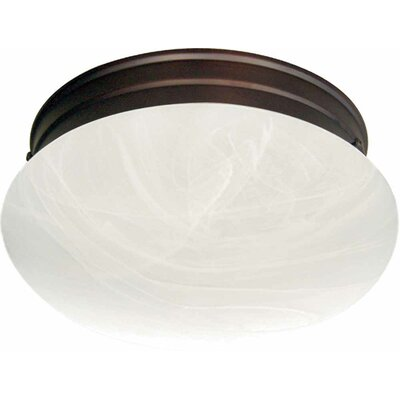 Minster 2-Light Ceiling Fixture Flush Mount Finish: Antique Bronze