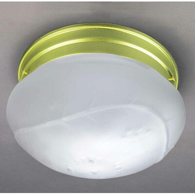 1-Light Ceiling Fixture Flush Mount Finish: Polished Brass