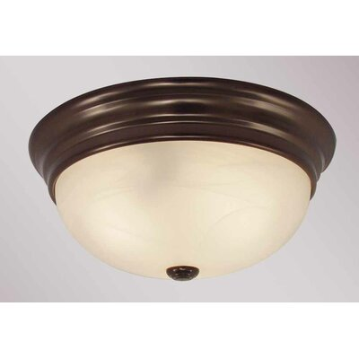 2-Light Ceiling Fixture Flush Mount Finish: Antique Bronze