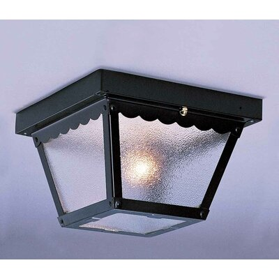 1-Light Flush Mount Finish: Black