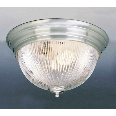2-Light Ceiling Fixture Flush Mount Finish: Brushed Nickel