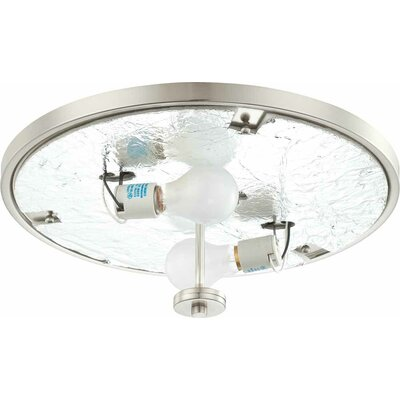Esprit 2-Light Ceiling Fixture Flush Mount Finish: Brushed Nickel