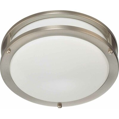 1-Light Ceiling Fixture Flush Mount Size: 3.5 H x 10 W x 10 D