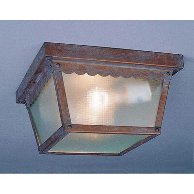 2-Light Flush Mount Finish: Prairie Rock