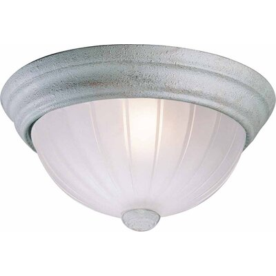 2-Light Ceiling Fixture Flush Mount Finish: Platinum Rust