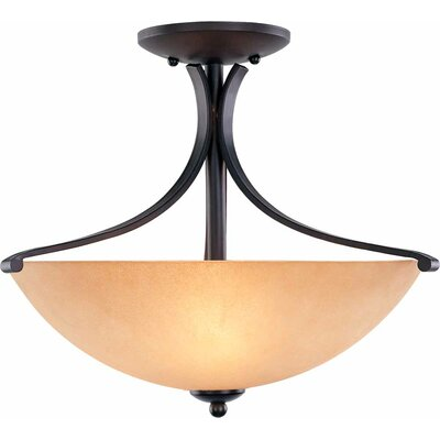 Rainier 3-Light Semi Flush Mount
