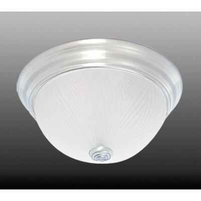 2-Light Ceiling Fixture Flush Mount Size: 6 H x 13 W x 13 D