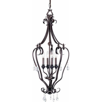 Parisian 4-Light Foyer Pendant