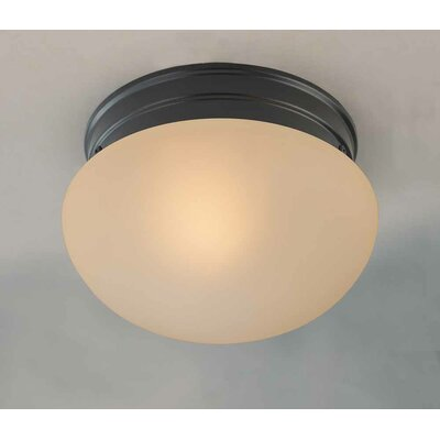 Troy 1-Light Semi Flush Mount Size: 5 H x 7 W x 7 D