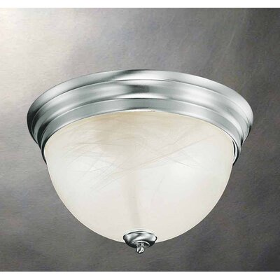 Troy 3-Light Flush Mount Finish: Brushed Nickel