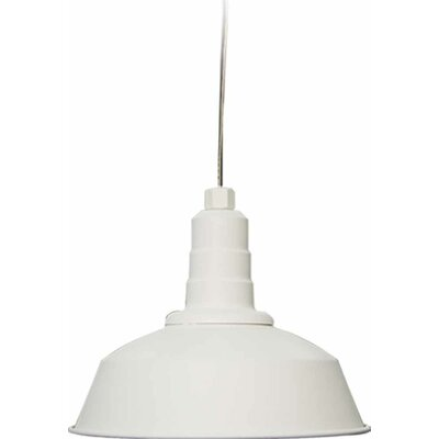 1-Light Bowl Pendant Size: 9.75 H x 12 W x 12 D