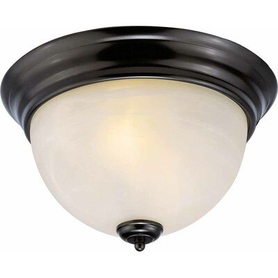 Troy 2-Light Flush Mount Finish: Antique Bronze