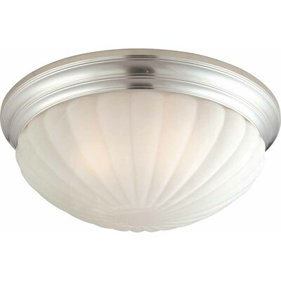 3-Light Ceiling Fixture Flush Mount Finish: Brushed Nickel
