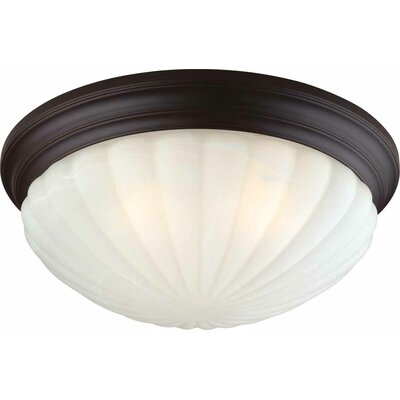 3-Light Ceiling Fixture Flush Mount Finish: Antique Bronze
