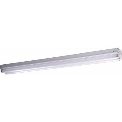 2-Light Ceiling Fixture Flush Mount Size: 4.63 H x 48 W x 3.38 D