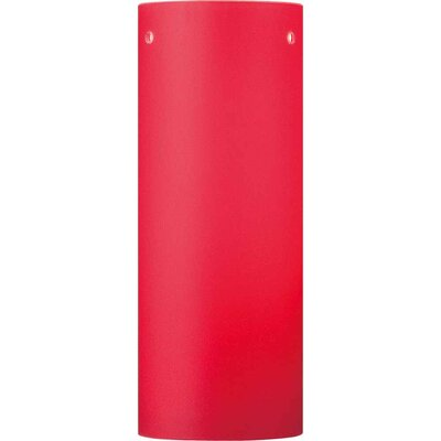3 Glass Drum Wall Sconce Shade Color: Red