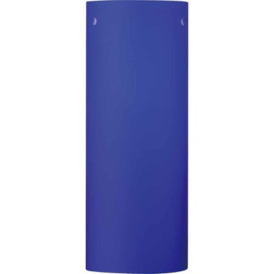 3 Glass Drum Wall Sconce Shade Color: Blue