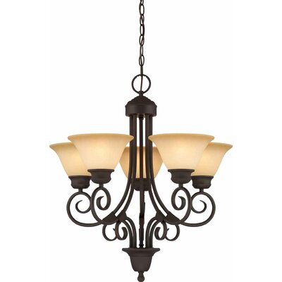 Troy 5-Light Shaded Chandelier