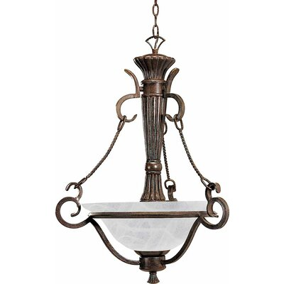 Worcester 3-Light Bowl Pendant