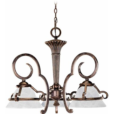 Worcester 3-Light Shaded Chandelier