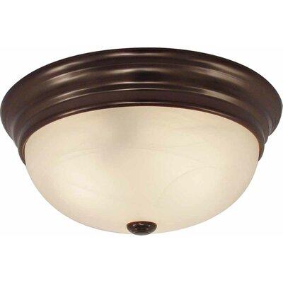 2-Light Ceiling Fixture Flush Mount Finish: Antique Bronze