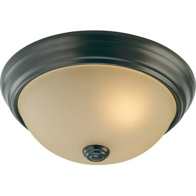 Whetsel 2-Light Ceiling Fixture Flush Mount Size: 4.5 H x 11 W x 11 D