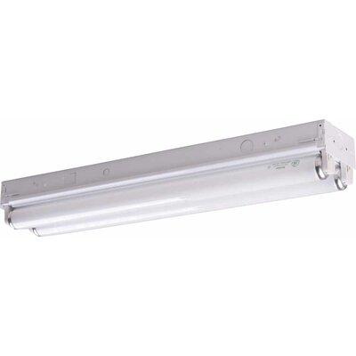 2-Light Ceiling Fixture Flush Mount Size: 4 .63 H x 24.13 W x 3.38 D