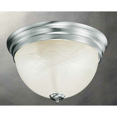 Troy 2-Light Flush Mount Finish: Brushed Nickel