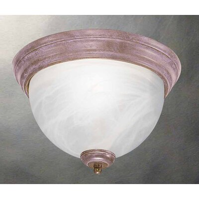 Troy 2-Light Flush Mount Finish: Prairie Rock