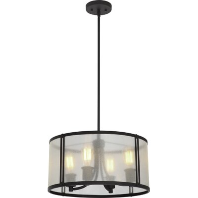 Concerto 4-Light Drum Pendant Size: 10.25 H x 18.5 W x 18.5 D