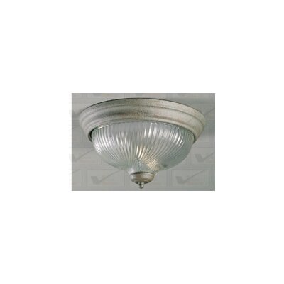 1-Light Ceiling Fixture Flush Mount Finish: Platinum Rust