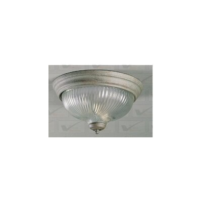 3-Light Ceiling Fixture Flush Mount Finish: White