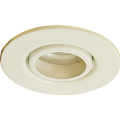 Gimbal Ring 4 Recessed Trim Finish: White