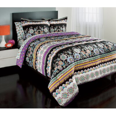 Royale Linens Dahlia Bed in a Bag Set - Size: Full