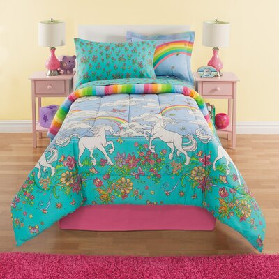Kidz Mix Unicorn Reversible Comforter Set Size: Full