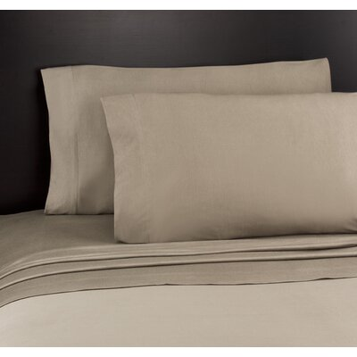 Soft Tees Knit Sheet Set Size: Full, Color: Taupe