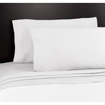 Soft Tees Knit Sheet Set Size: King, Color: White