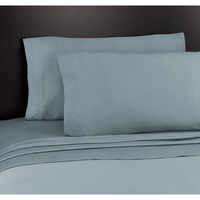 Soft Tees Knit Sheet Set Size: Full, Color: Smoke Blue