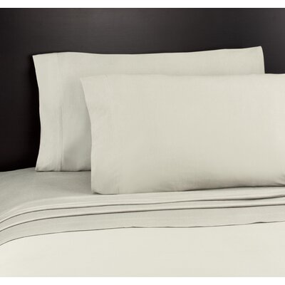 Soft Tees Knit Sheet Set Size: Full, Color: Cream