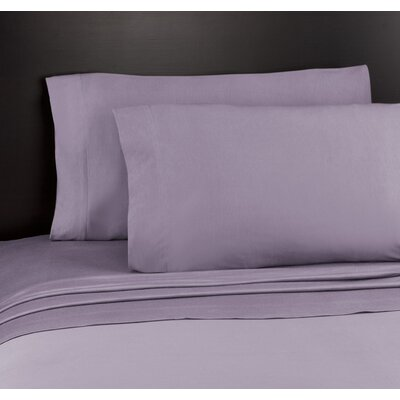 Soft Tees Knit Sheet Set Size: King, Color: Mauve