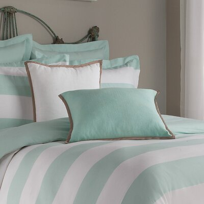 Chagnon Stripe Cotton Throw Pillow Color: Aqua