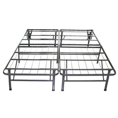 Innovative Box Spring & Bed Frame Foundation with Skirt & Brackets Size: Queen