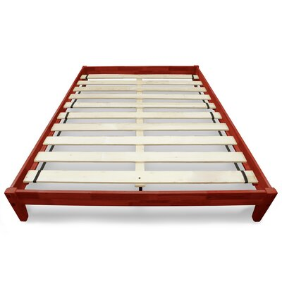 Modern Platform Bed Size: Full, Color: Cherry