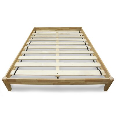 Modern Platform Bed Size: Queen, Color: Natural