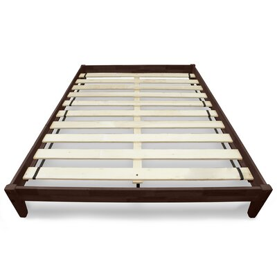 Modern Platform Bed Size: Queen, Color: Chocolate