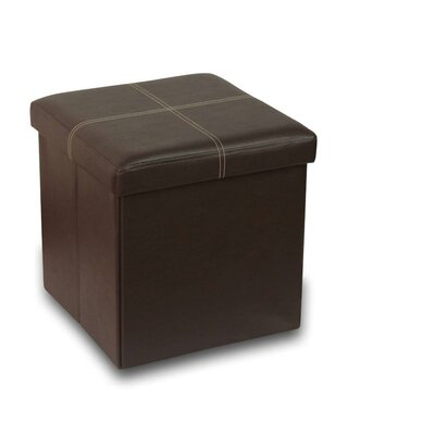 Memory Foam Foldable Ottoman Upholstery: Brown