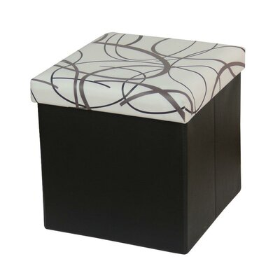 Memory Foam Foldable Ottoman Upholstery: White
