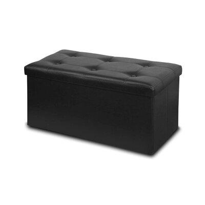 Memory Foam Foldable Ottoman Upholstery: Black
