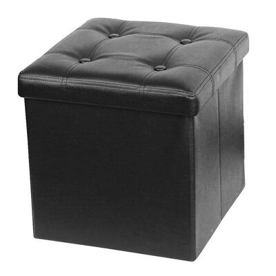 Francis Storage Ottoman Upholstery: Black